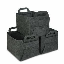3 pcs Home Storage Box Household Organizer Rectangular Bin B