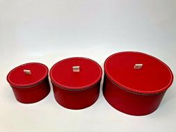 Ikea 3 Red Storage Boxes New