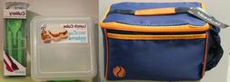 3-SET LUNCH BAG CUBE & CUTLERY Sistema To Go Sandwich Box Ut