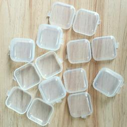 30 90pcs mini clear plastic small box