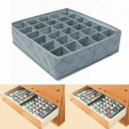 30 Cells Bamboo Charcoal Underwear Ties Sock Storage Drawer