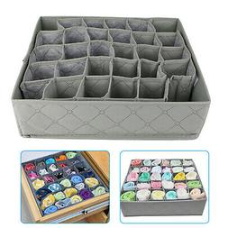 30 Cells Foldable Bamboo Charcoal Underwear Socks Drawer Org