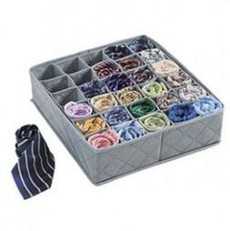 30 Cells Underwear Ties Sock Storage Box Bamboo Charcoal Dra