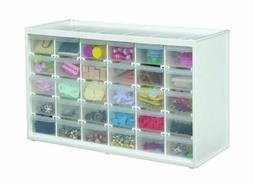 White 30 Drawer Storage Cabinet Arts Crafts Small Parts Orga