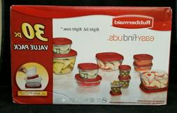 Rubbermaid 30 Piece Food Storage Set with Easy Find Lids New