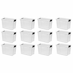 Sterilite 30 Quart Ultra Latch Storage Box w/ White Lid & Cl