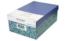 DARICE 30032652  STORAGE PHOTO BOX 7 5X4X11 VINES BLUE GRN