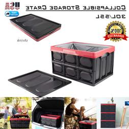 30L 55L Collapsible Plastic Storage Box Durable Stackable Fo
