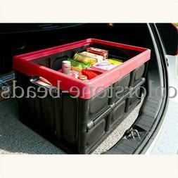 30L Collapsible Folding Storage Box Durable Plastic Car Util