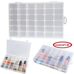 36 Compartment Craft Organizer Plastic Box Jewelry Bead Stor