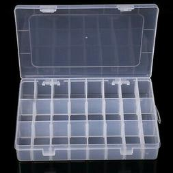 36 Compartments Clear Plastic Storage Box Jewelry-Bead Screw