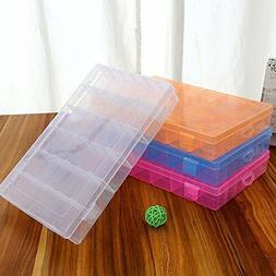 36 Grid Box Storage Organizer Case Display Collection w/ Adj