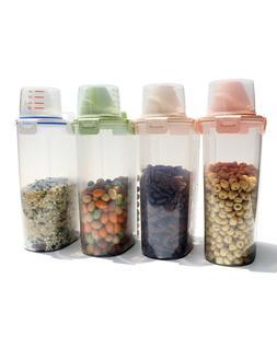 3L 4 Pcs Plastic Cereal Dispenser Storage Box Kitchen Food G