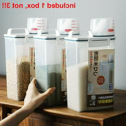 3L Kitchen Storage Box Cereal Dispenser Food Grain Rice Cont