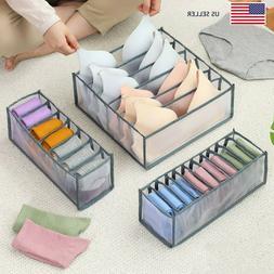 US - 3pcs Foldable Drawer Organizer Divider Storage Box Unde