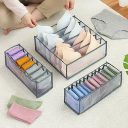 3PCS Set Foldable Drawer Organizer Divide Closet Storage Box
