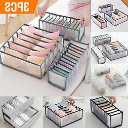 3PCS Foldable Drawer Organizer Divider Closet Storage Box Un