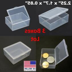 3PCS Small Plastic Storage Container Box DIY Coins Screws Ch