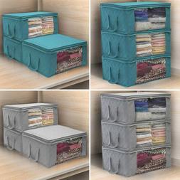 3Pcs/set Large Foldable Storage Clothes Quilt Bag Blanket Sw
