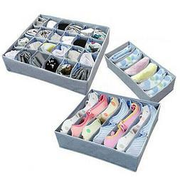 3Pcs/Set Sock Bra Underwear Closet Divider Drawer Organizer