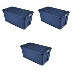 Plastic Storage Containers Large Blue 50 Gallon Stacking Bin