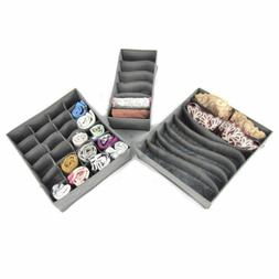 3x foldable drawer organizer underwear socks home