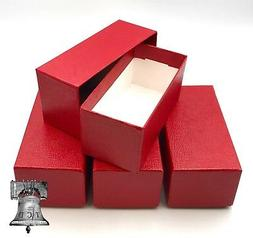 4 Coin Storage Box Red 4.5x2x2 Coin Holder SINGLE ROW for 2x