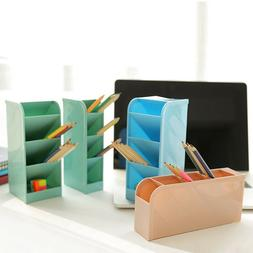 4 Color Desk Plastic 4 Compartments  Pen Holder Storage Box
