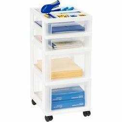 Iris 4-Drawer Cart with Organizer Top