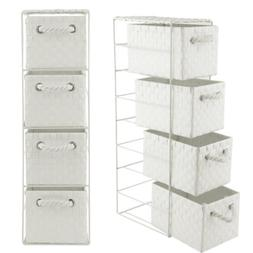 4 drawer storage cabinet weave cart plastic