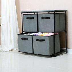 4-Drawer Storage Chest Shelf Unit Storage Cabinet Multi-Bin