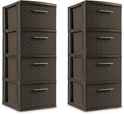 4 drawer storage plastic cabinet organizer tower