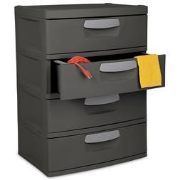 Sterilite 4 Drawer Storage Unit Organize Gray Large Capacity