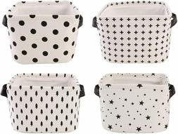 4 Pack Fabric Storage Baskets Collapsible Bins Boxes Organiz