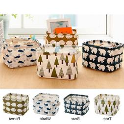 4 PCS Fabric Cloth Oxford Storage Box Household Organizer Cu