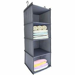 4 shelf closet systems hanging organizer clothes