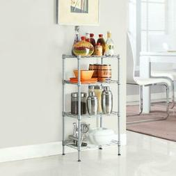 4 Tier Corner Shelves Wire Shelving Rack Shelf Adjustable St
