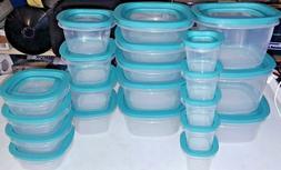 Rubbermaid 42-Piece Flex & Seal Food Storage Set in Aqua New