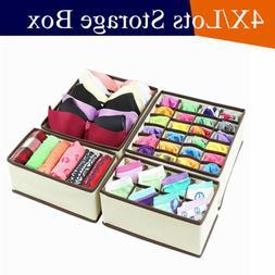 4pcs lot clothes organizer drawer storage box