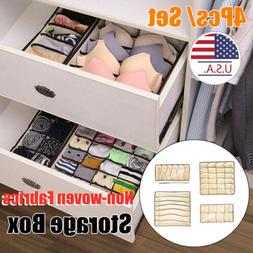 4X Foldable Cloth Storage Box Closet Dresser Drawer Organize
