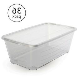 Life Story 5.5 Quart Protective Clear Plastic Storage Shoe B