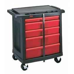 5-Drawer Mobile Workcenter 32.6X19.8X33.5 Bla/Red