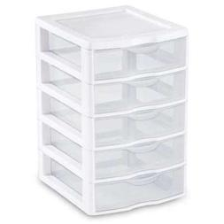 Sterilite 5 Drawer Clear View Storage Unit 20758004