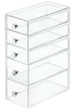 5 drawers plastic vanity narrow cosmetics organizer