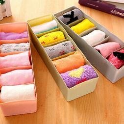 5 Grids Storage Boxes Waterproof Desk Drawer Underwear Socks
