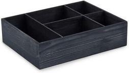 EZOWare 5 Section Wood Organizer Storage Box, Decorative Dre