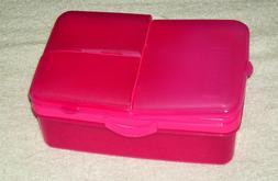 SISTEMA 50.7oz PINK SLIMLINE QUADDIE 4 COMPARTMENT LUNCH BOX