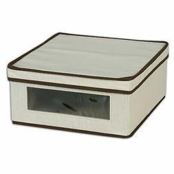 Household Essentials 510 Vision Storage Box - Natural Canvas