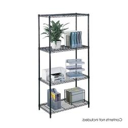 Safco Products 5285BL Industrial Wire Shelving Starter Unit