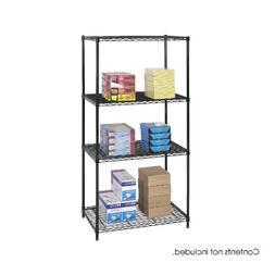 Safco Products 5288BL Industrial Wire Shelving Starter Unit